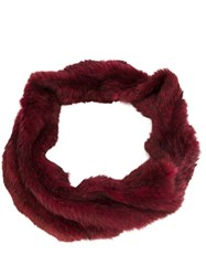Jocelyn Infinity Scarf Red