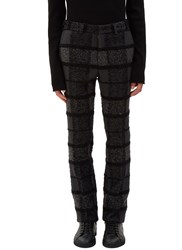 Fendi Tactile Multi Checked Straight Leg Pants Grey
