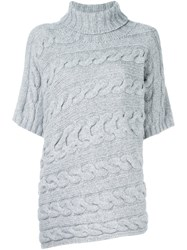 Incentive Cashmere Cable Knit Jumper Grey