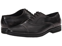 Messico Ivan Vintage Black Leather Men's Flat Shoes