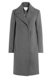Dkny Coat With Oversized Collar Grey