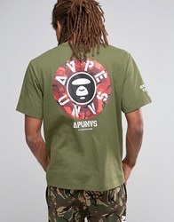 Aape By A Bathing Ape T Shirt With Back Print Green