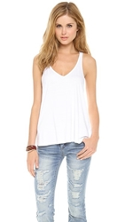 Feel The Piece V Layer Tank White