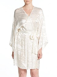 Josie Natori Island Burnout Wrap Robe White
