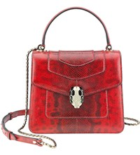 Bulgari Serpenti Forever Leather Shoulder Bag Ruby Red
