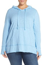 Melissa Mccarthy Seven7 Plus Size Women's High Low Hoodie Blue Bell