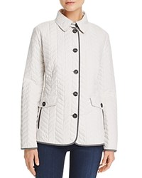 Basler Chevron Quilted Jacket Champagne