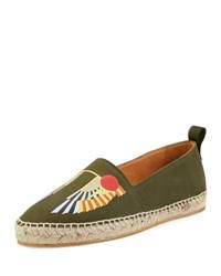 Givenchy Men's Wing Canvas Espadrille Olive