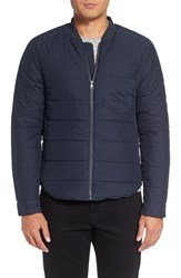 Michael Stars Men's Quilted Bomber Jacket Navy