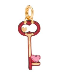 Prada Heart Key Charm Red Pink Fuoco Begonia Red Pink