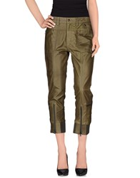 Diesel Black Gold Trousers Casual Trousers Women Military Green