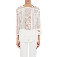 Tomorrowland Women's Geometric Lace Top White