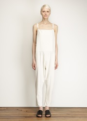 Totokaelo Base Range Off White Silk Long Strap Overall