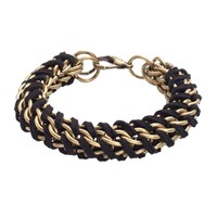 Mamazoo Chain Suede Weave Bracelet Black