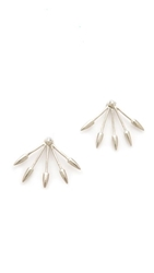 Pamela Love Five Spike Stud Earrings Sterling Silver