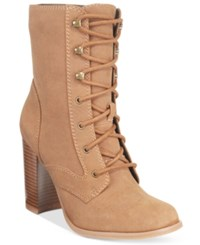 Mojo Moxy Dolce By Firebird Lace Up Booties Women's Shoes Sand