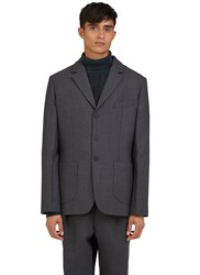Curieux Single Breasted Tailored Jacket Grey