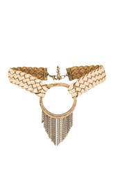 Ettika Behind The Bit Choker Metallic Gold