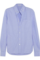 Tomas Maier Printed Cotton Shirt Blue