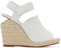 Alexander Wang Off White Leather Tori Sandals