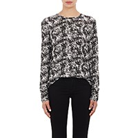 Proenza Schouler Women's Tissue Weight Long Sleeve T Shirt Black White Black White