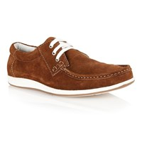 Lotus Allington Lace Up Casual Moccasins Brown