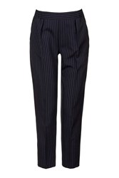 Topshop Maternity Pinstripe Trousers Navy Blue