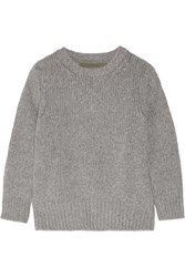 Enza Costa Knitted Sweater Gray