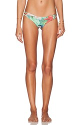 San Lorenzo Reversible Braided Brazilian Bikini Bottom Green