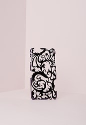 Missguided Floral Metallic Iphone 6 Case Black