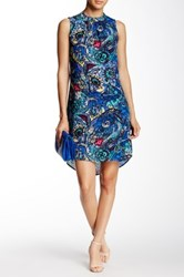 Daniel Rainn Sleeveless Mock Neck Trapeze Dress Multi