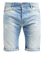 Japan Rags Texas Denim Shorts Blue