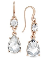 Charter Club Colored Crystal Drop Earrings Only At Macy's Rose Gold
