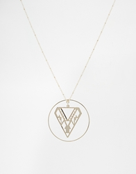 Asos Limited Edition Open Aztec Shapes Necklace Gold
