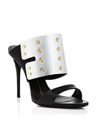 Giuseppe Zanotti Open Toe Slide Sandals Coline Shield High Heel