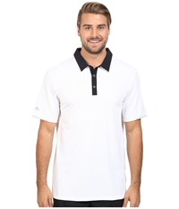Adidas Climacool Performance Polo White Black Men's Clothing
