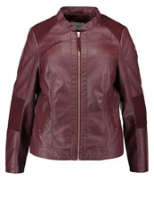 Junarose Jrojetta Faux Leather Jacket Decadent Chocolate Dark Brown