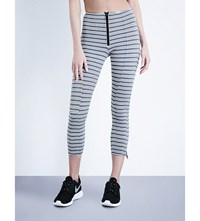Lisa Marie Fernandez Hannah Stripe Leggings Black White Stripe