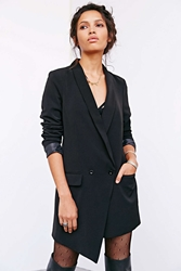 Silence And Noise Silence Noise Asymmetrical Long Blazer Black