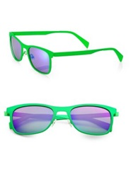 Italia Independent Metal Sunglasses Green Orange
