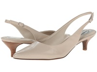Trotters Prima Nude Mini Embossed Patent Leather Women's 1 2 Inch Heel Shoes Bone