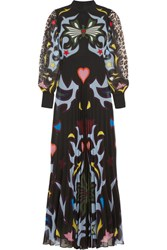 Mary Katrantzou Mizar Printed Georgette Gown Black
