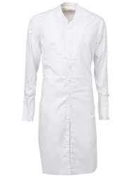 Greg Lauren Elongated Shirt White