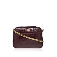 Kurt Geiger Croc Plum Cross Body Wine