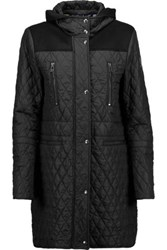 Belstaff Flynn Quilted Shell Hooded Coat Black
