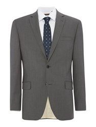 Corsivo Men's Arzo Italian Wool Textured Suit Jacket Grey