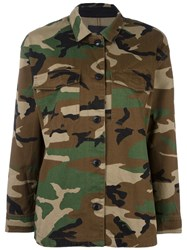Rag And Bone Ivory Jean Camouflage Military Jacket Bone