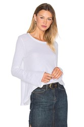Enza Costa Cashmere Bell Sleeve Flare Top White