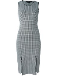 Alexander Wang Gingham Pencil Dress Black