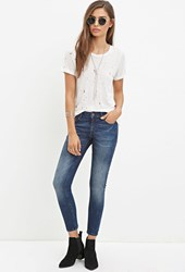 Forever 21 Low Rise Skinny Ankle Jeans Dark Denim